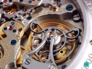 механизъм на хронограф - макроснимка