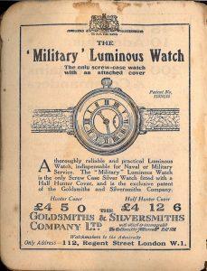 История на мъжките ръчни часовници