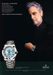 Реклама на Rolex с Placido Domingo