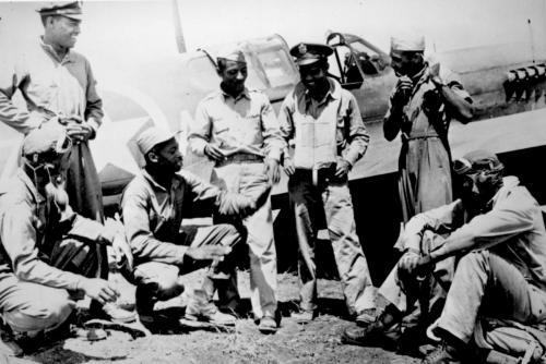 Афро-американски воиници през Втората световна Война
